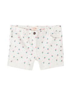 Short en jean, imprimé pois et fraises  JAJOSHORT4 / 20S901T4D30001