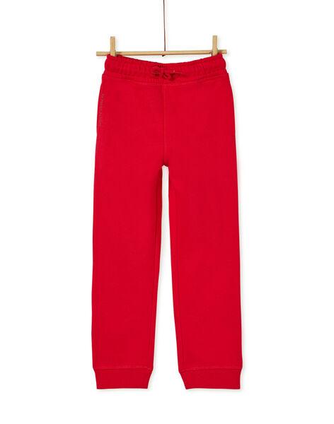 Bas de jogging garçon rouge chiné KOJOJOB5EX / 20W9025AD2AF508