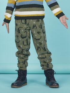 Pantalon de jogging imprimé garçon KOBOJOG / 20W902N2PANG607
