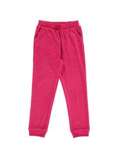Pantalon de jogging en velours fille DAJOBAJOG2 / 18W901C2D2A310