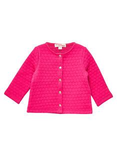 Cardigan rose bébé fille JIJOCAR2 / 20SG0952CARF507