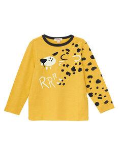 Tee shirt manches longues jaune garçon jaguar JOTROTEE2 / 20S902F2TMLB116
