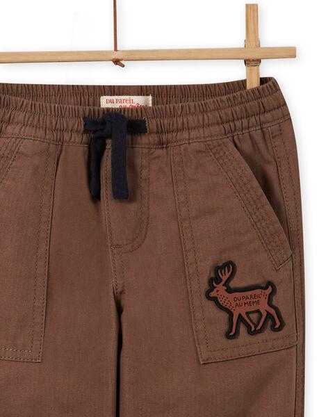 Pantalon multipoches imprimé militaire enfant garçon MOSAUPAN / 21W902P1PANI807