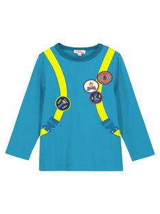 Tshirt Turquoise Manches Longues GOTUTEE2 / 19W902Q3TMLC217