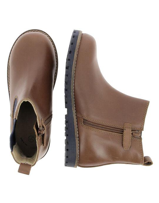 Boots en cuir garçon DGBOOTCHE2 / 18WK36T2D0D802