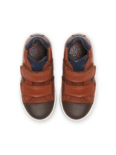Baskets camel en cuir enfant garçon MOBASNEWTAN / 21XK3674D3F804