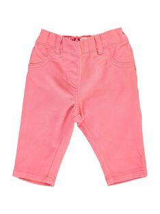 Pantalon en twill bébé fille CIJOPAN2 / 18SG09R2PAN404