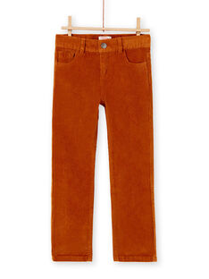 Pantalon en velours moutarde garçon KOJOPAVEL5 / 20W90242D2B804