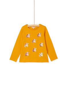 T-shirt manches lonngue, imprimé  tête de licorne et sequins  KAGOTEE2 / 20W901L1TML107