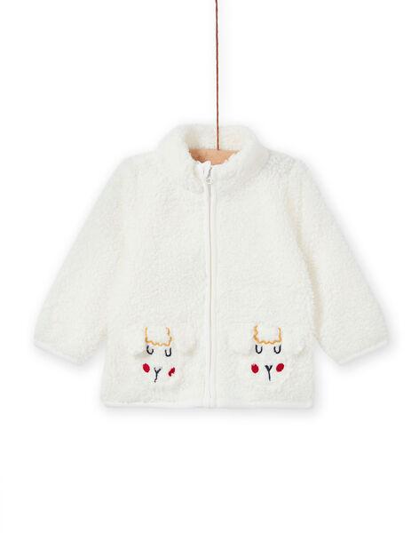 Gilet écru en fausse fourrure animations moutons bébé garçon MUMIXGIL / 21WG10J1GIL001