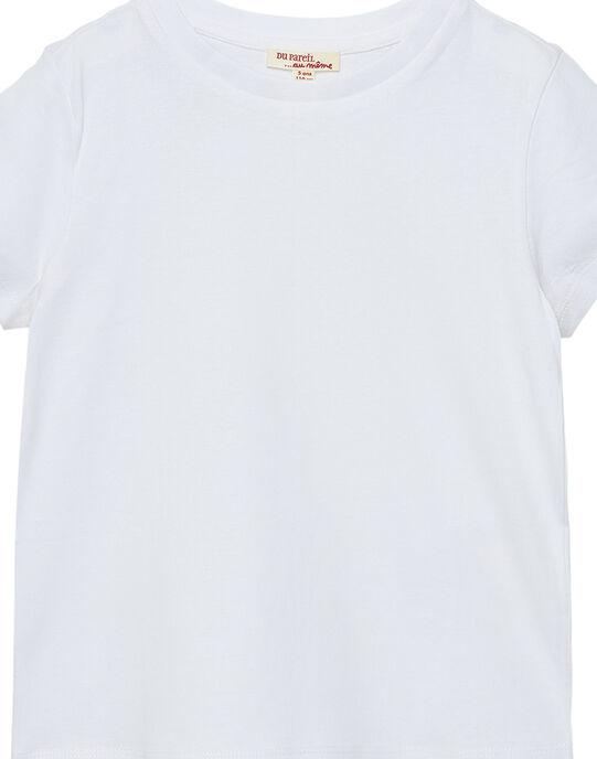 Tee shirt manches courtes garçon uni blanc JOESTI1 / 20S90262D31000
