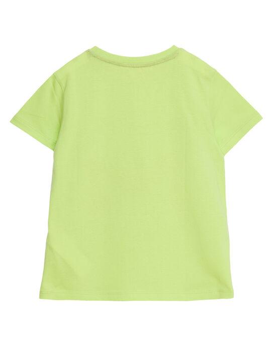 Tee shirt garçon manches courtes jaune imprimé crabe JOJOTI9 / 20S902T3D31103