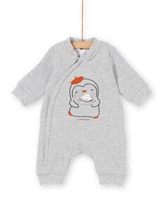 Combinaison à col teddy gris chiné KOU2COM / 20WF0521CBLJ906