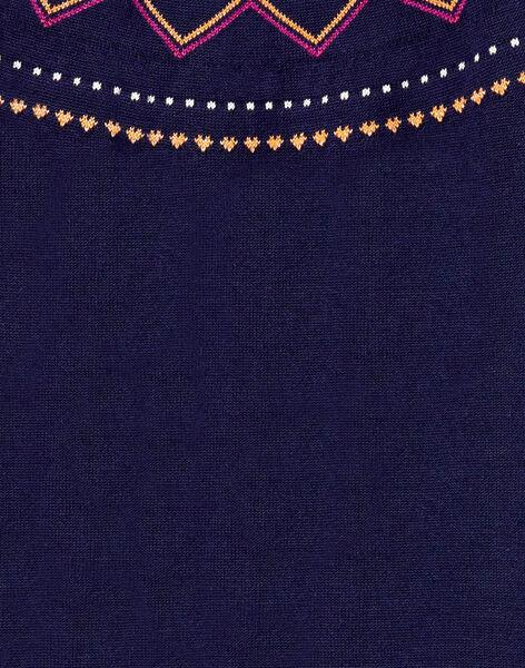 Robe manches longues en jacquard et lurex  KALUROB2 / 20W901P1ROBC205