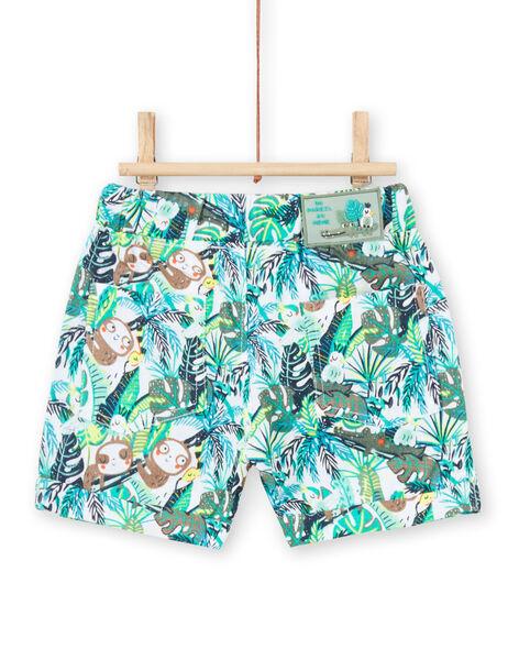 Bermuda à imprimé jungle vert bébé garçon LUVERBER1 / 21SG10Q1BER001