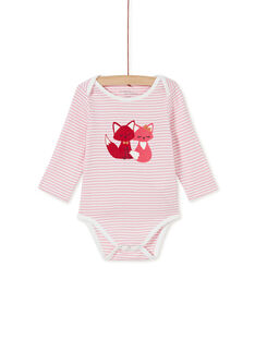 Body layette fille manches longues à rayures  KEFIBODCAL / 20WH13T2BDL001