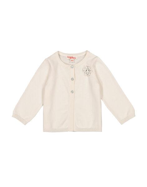 Gilet blanc bébé fille FIJOCAR1 / 19SG0931CAR001
