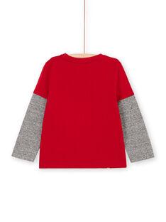 T-shirt rouge motif ballon à sequins réversibles enfant garçon LOHATEE / 21S902X1TML050