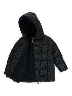Doudoune noire à capuche fille DALONDOU2 / 18W901E2D3E090