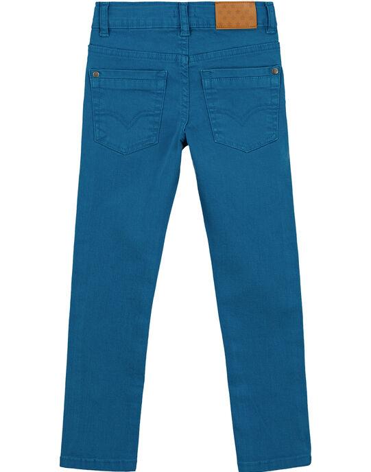 Pantalon Slim Stretch Bleu Canard GOJOPATWI1 / 19W90243D2B714