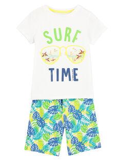 Pyjama short imprimé garçon FEGOPYCSURF / 19SH12H7PYJ000