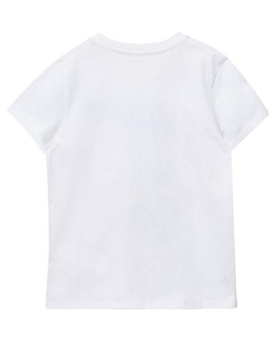 Tee shirt garçon manches courtes blanc homard JOCEATI4 / 20S902N3TMC000