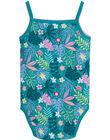 Body bébé fille à bretelles turquoise JEFIBODAOP2 / 20SH13V5BDL621
