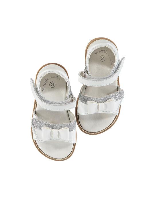 Sandale ville cuir bébé fille FBFSANDVEL / 19SK37C3D0E000