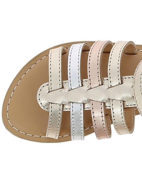Sandale en cuir fille CFSANDMET / 18SK35WID0E954