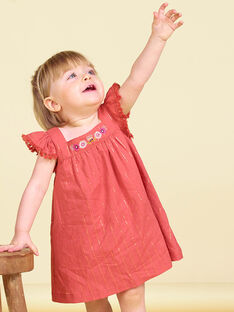 Robe marron bébé fille LITERROB1 / 21SG09V3ROBF519