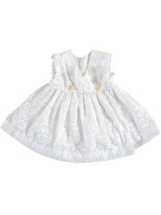Robe blanche de cérémonie bébé fille JIPOEROB1 / 20SG09G2ROB000