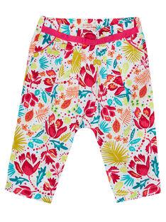 Pantalon imprimé layette fille JIBOPAN / 20SG09H1PAN000