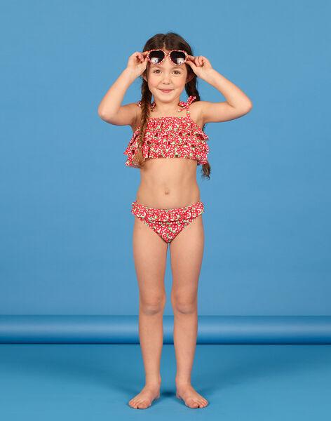 Maillot de bain 2 pièces rose enfant fille LYABIK1 / 21SI01DIMAI309