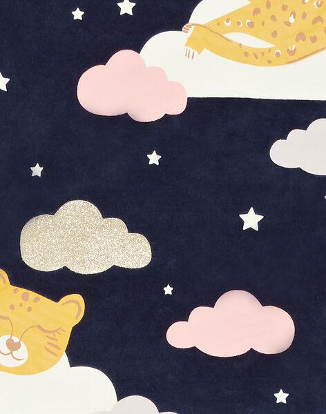 Pyjama PHOSPHORESCENT enfant fille motif panthères  KEFAPYJNUI / 20WH11C1PYJ070