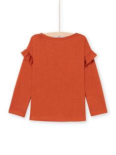 T-shirt caramel enfant fille MACOMTEE3 / 21W901L2TML420