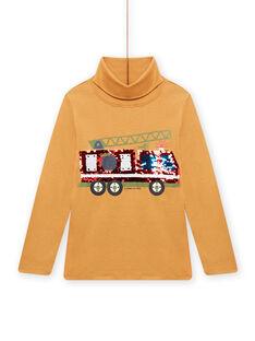 Sous-pull jaune motif à sequins réversibles enfant garçon MOCOSOUP / 21W902L1SPLB118