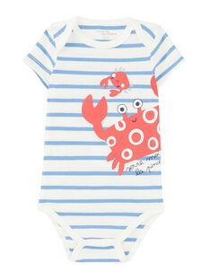 Body bébé garçon manches courtes rayé  JEGABODCRA / 20SH14V1BDL001