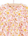 Robe rose et jaune imprimé fleuri et legging rose bébé fille MISAUENS / 21WG09P1ENS632