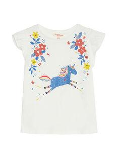 Tee Shirt Manches Courtes Ecru JAGRATIEX / 20S901E3TMC001
