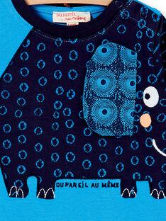 Tee-shirt manches longues bleu bébé garçon KUSATEE1 / 20WG10O1TMLC201