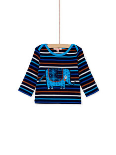 Tee-shirt manches longues rayé bleu KUSATEE2 / 20WG10O2TML713
