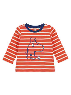 Tee Shirt Manches Longues Orange GUJOTIRAY3 / 19WG1046TML406