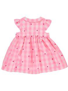 Robe à carreaux bébé fille CIHOROB3 / 18SG09E2ROB099