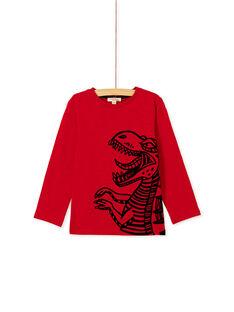Tee shirt manches longues rouge garçon KOJOTEE12 / 20W90245D32F518