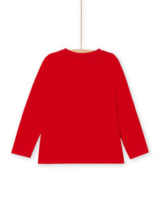 Tee Shirt Manches Longues Rouge LOJOTEE3 / 21S90232TML050