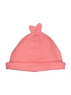 Bonnet de naissance bébé fille FOU1BON1F / 19SF4212BNAD300