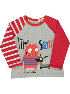 Tee-shirt fantaisie bébé garçon DUROUTEE1 / 18WG1021TMLJ908