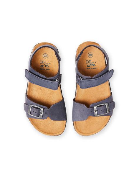 Sandales bleu marine enfant garçon LGNUBLEU / 21KK3656D0E070