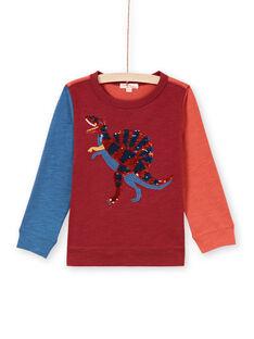 T-shirt tricolore animation dinosaure à sequins réversibles enfant garçon MOPATEE3 / 21W902H1TML719