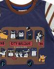 Tee-shirt manches courtes bébé garçon DUCHOTEE1EX / 18WG10F1TMC710
